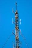 Antena no céu azul Fotos de Stock Royalty Free