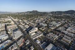 Antena norte de Los Angeles Hollywood Fotografia de Stock