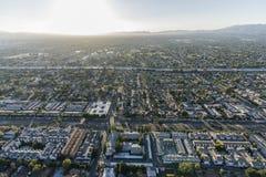Antena norte dos montes da avenida de Los Angeles Califórnia Sepulveda fotos de stock royalty free