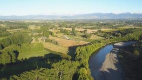 Antena Nowa Zelandia rzeka I wino kraj, 4k klamerka zbiory