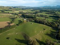 Antena, Nowa Zelandia ziemie uprawne, Martinborough obrazy stock
