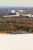Antena occidental del invierno de Wisconsin Fotografía de archivo