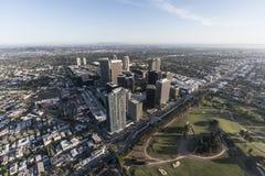 Antena ocidental da skyline da cidade do século de Los Angeles Fotos de Stock Royalty Free