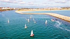 Antena od żeglowania w schronieniu od Lagos w Algarve Portugalia Obraz Royalty Free