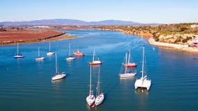Antena od żeglowania w schronieniu od Lagos w Algarve Portugalia Zdjęcia Royalty Free