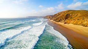 Antena od Praia doliny Figueiras Portugalia Obrazy Stock
