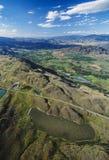 Antena Okanagan dolina Łaciasty jezioro i, BC, Kanada Fotografia Royalty Free