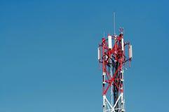 Antena para la red móvil Fotos de archivo