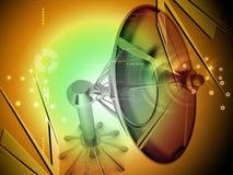 Antena parabólica stock de ilustración
