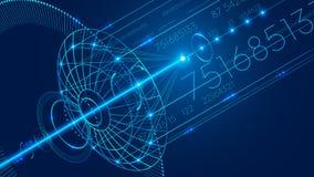 Antena parabólica abstracta de la comunicación Fondo de la comunicación digital de la tecnología del extracto stock de ilustración