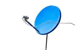 Antena parabólica azul Fotos de archivo libres de regalías