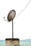Antena parabólica de la TV Foto de archivo