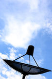 Antena parabólica preta Fotos de Stock