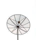 Antena parabólica preta grande isolada no fundo branco Imagem de Stock