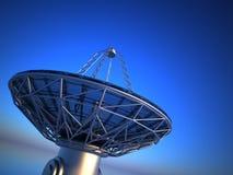 Antena parabólica (telescópio de rádio) Fotografia de Stock Royalty Free