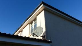 Antena parabólica da tevê Foto de Stock Royalty Free