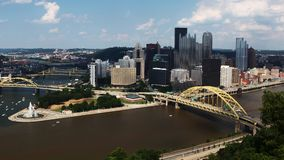 Antena Pittsburgh, Pennsylwania centrum miasta zdjęcie royalty free