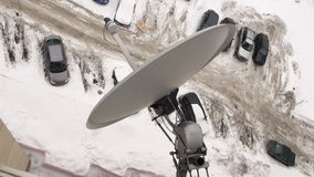 Antena por satélite almacen de metraje de vídeo
