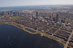 Antena posterior de la bahía de Boston Foto de archivo libre de regalías