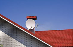 Antena pour la réception de la TV Photographie stock libre de droits