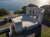 Antena, puesta del sol en el monumento de Massey Fotos de archivo libres de regalías