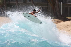 Antena que practica surf Foto de archivo