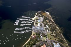 Antena real do clube de Perth Yatch Foto de Stock Royalty Free