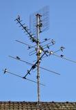 antena rolnik łyka tv Zdjęcia Royalty Free