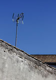 Antena on a roof of an old desolate house. Albaicin, Granada, Spain royalty free stock photo