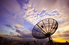 Antena satélite Imagem de Stock