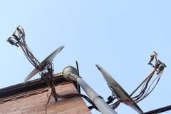 Antena satélite Imagens de Stock