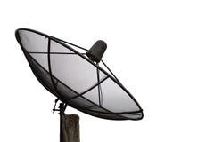 Antena satélite contra no fundo branco Imagens de Stock Royalty Free