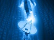 Antena satelitarna przekazu dane ilustracja wektor