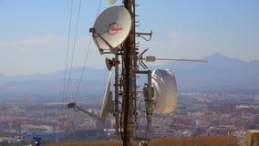 Antena Satelitarna telefon komórkowy I anteny Górują zdjęcie wideo