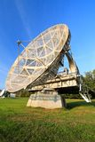 Antena satelitarna w lato krajobrazie, nieba tło zdjęcia stock