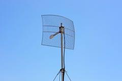 Antena sem fio parabólica Fotografia de Stock