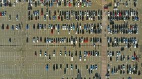 antena Setki samochody na parking obraz royalty free