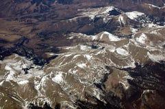 Antena sobre las montañas rocosas 2 imagen de archivo libre de regalías