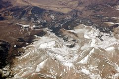 Antena sobre las montañas rocosas 3 fotografía de archivo libre de regalías
