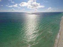 Antena sobre a praia Foto de Stock Royalty Free
