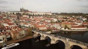 Antena stary miasteczko Praga zdjęcie wideo