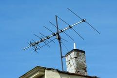 antena stary tv Zdjęcia Royalty Free