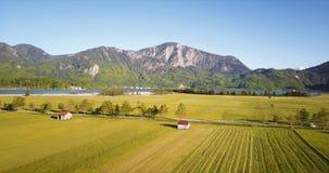 Antena strzał bavarian krajobraz zdjęcie wideo