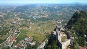 Antena strzał piękny krajobraz San Marino zbiory