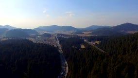 Antena strzału autostrada zdjęcie wideo