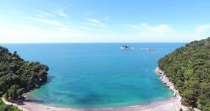 Antena strza? pi?kny nadmorski Adriatic krajobraz zbiory wideo