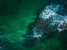 Antena strzelał Mil Palmeras seashore, Hiszpania fotografia stock
