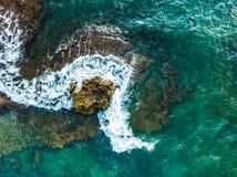Antena strzelał Mil Palmeras seashore, Hiszpania obraz stock