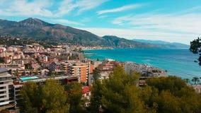 Antena Strzelająca Śródziemnomorska miejscowość wypoczynkowa zdjęcie wideo