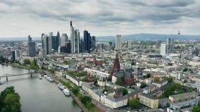 Antena strzelaj?ca Frankfurt magistrala - jest - Niemcy zbiory wideo